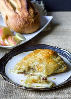 Brown Sugar Apple Baked Brie in Puff Pastry