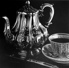 Teapot-Pencil Drawing by Jerry Winick
