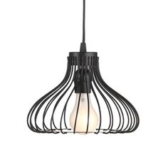 Metal pendant light with an openwork shade.    Product: PendantConstruction Material: MetalColor: Bl...