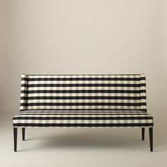 Lenox Bench - Windowpane Plaid