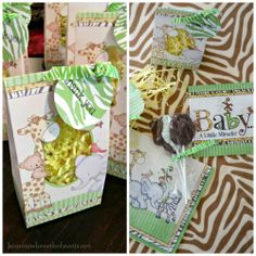 Safari Theme Baby Shower Decorations and Baby Shower Favors from HIWTBI