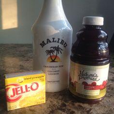 Malibu Bay Breeze Jell-O shots!
