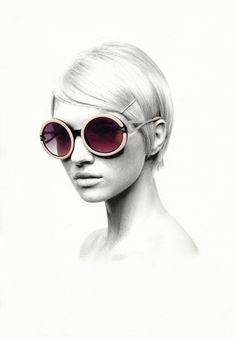Graphite and water color. So cool!  Montures by Nabil Nezzar, via Behance