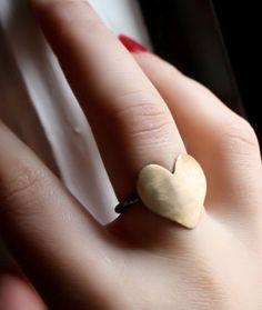 Brass Heart Ring <3
