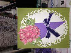 Another card using the Martha Stewart Hydrangea punch