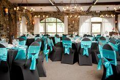 Black & teal wedding- Ottawa Wedding www.rsvp-events.ca -Ottawa Wedding Decor
