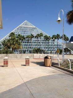 Moody Gardens Aquarium Pyramid in Galveston , TX