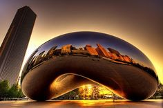 The Bean Sculpture by Anish Kapoor
