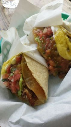 Hard tacos at a Mexican joint that are freshly made and authentic are delicious and even better with guacamole and sour cream. Plus, kids like tacos.
