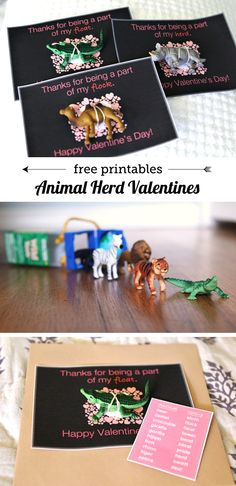 Animal Herd Valentines - my kids and their friends love the free printable that teaches them the names for different groups of animals!