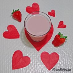 Learn How to Make Homemade Strawberry Milk  for #Valentinesday!