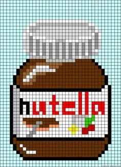 Nutella  jar perler bead pattern