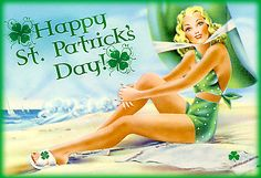Retro St. Patty'S Day Pin Up Girl Greeting
