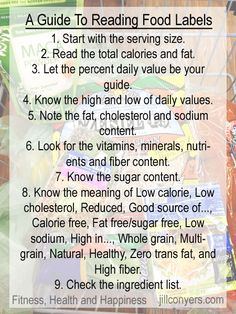 A Guide to Reading Food Labels jillconyers.com