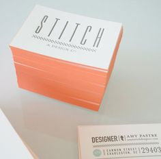 stitch design company business cards by Amy Oastre & Courtney Rowson