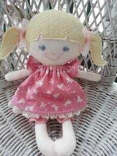 A handmade rag doll--my friend Grace  www.facebook.com/dandelionwishesbymimi  www.dandelionwishesmimi.etsy.com