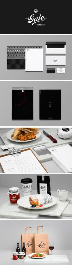 Galo Kitchen restaurant. let's eat #packaging #identity #branding PD