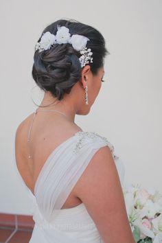 wedding hair // El Cortez Hotel Wedding in San Diego side updo, wedding hairs