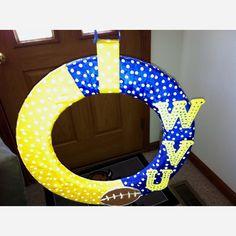 Wvu football wreath I made