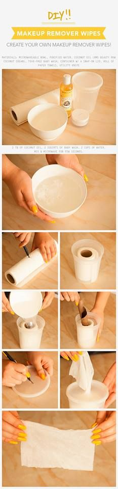 DIY Make up remover in a box