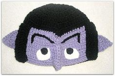 One! One crocheted beanie of The Count! Muahahaha!  FIND MORE OF THESE ON >>>http://www.etsy.com/shop/kjcreations2