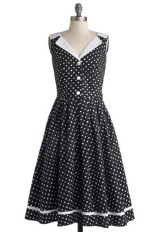 Love You Brunches Dress in Black. Nothing delights you quite as much as a mid-morning meal with the ones you love. #black #modcloth