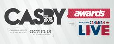 City and Colour, The Sheepdogs nominated for 2013 CASBYs