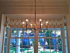 Roman shades furnished and installed by Kite's Interiors