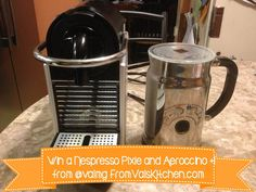Win a @Nespresso USA Pixie & Aeroccino (value $329). #Giveaway ends 01/11/14, US only. Enter on FromValsKitchen.com