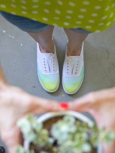 DIY Ombre Watercolor Shoes - Lovely Indeed