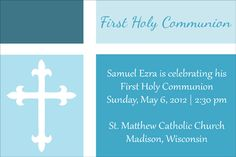 Free Downloadable First Communion, Baptism, and Confirmation Invitations and Announcements