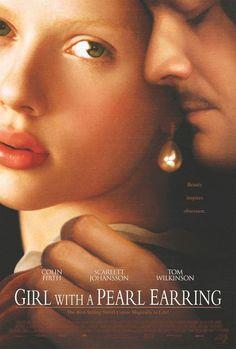 film, scarlett johansson, girl, pearl earrings, johannes vermeer, pearls, colin firth, book, movi