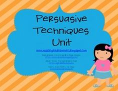 Persuasive techniques bulletin board includes:*Posters and definitions for the following nine persuasive techniques:1. bandwagon2. transfer...