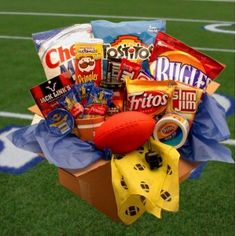 Football game time gift basket