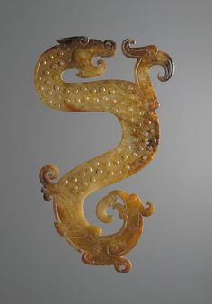 Jade Configuration of Dragon, Bird, and Snake, 4th cent. BC - 3rd cent. BC Ornament Chinese , 4th-3rd century BC Zhou dynasty, Warring States period, 475-221 BC Creation Place: China