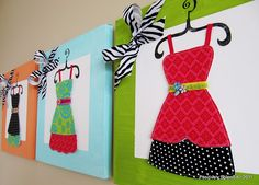 I want to make these super cute dress-up canvases for decorations so cute!