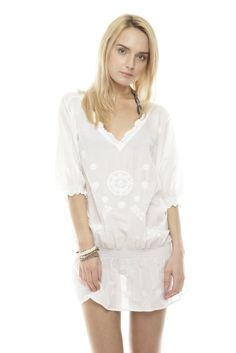 I love a white cotton tunic for the summer, over jeans or shorts or leggings or swimsuits