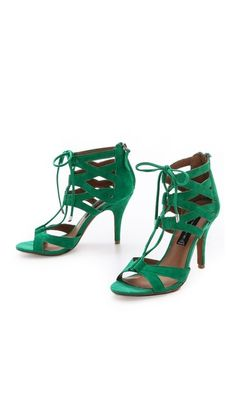 Steve Gingir Lace Up Sandals #green #emerald