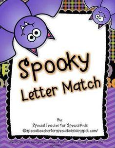 Spooky Letter Match FREEBIE!