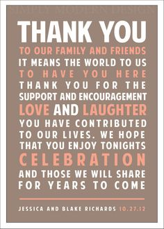 thank you wedding sign PRINTABLE by xSimplyModernDesignx on Etsy, $10.50