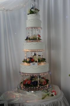 Aglow Weddings & Events.  The Brittany Illuminated Cake Display  www.AglowWeddings.com
