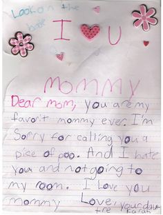I would laugh if My daughter ever left this for me!! sooo cute!!
