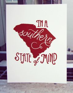 South Carolina Print