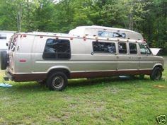 """1988 Dodge """"stretch"""" camper van."""