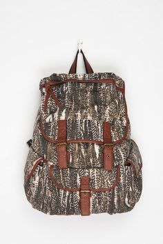 Ecote Patterned Canvas Backpack  #UrbanOutfitters