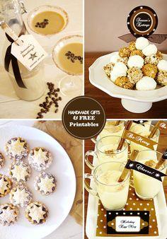 Handmade Edible Gift Ideas + FREE Printable Gift Tags