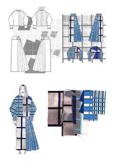 Fashion Sketchbook - grid print fashion design; fashion drawings & fabrics; fashion portfolio // Gina Atkinson