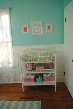 Aqua, Pink, and Green Whimsical Nursery | Project Nursery