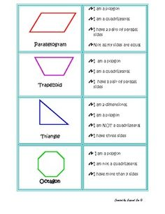 Geometry for Kids on Pinterest   3d Shapes, Geometry and Geometry ...