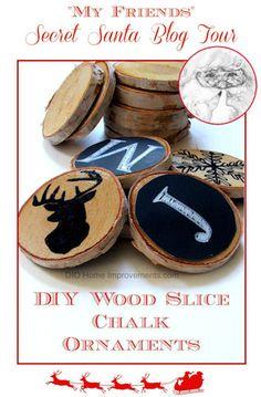 DIY Wood Slice Chalk